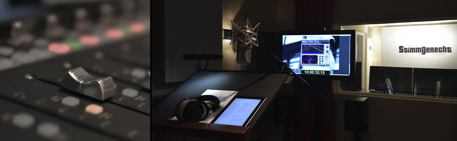 Stimmgerecht recording studios - We will give your production the perfect voice in every language!